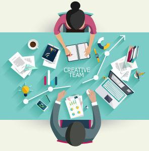 Tredubbel kreativitet med dubblad personalstyrka